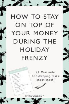 Money Tips  Financial Tips  Small Business Finance  Entrepreneur  Bookkeeping via @bffcourse