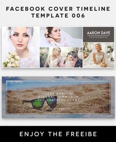 Free Facebook Cover Timeline Template 6 Fully editable and all layers are Organized in PSD Template. Easy to edit. Download Now! via @creativetacos Photography Words, Wedding Photography, Creative Facebook Cover, Facebook Cover Template, Free Facebook, Psd Templates, Timeline, Layers, Projects