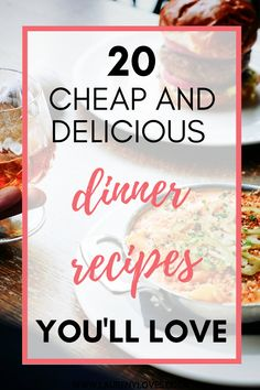 20 delicious dinner recipes you need to try. Read this and find 20 cheap dinner ideas to try tonight. Hearty and healthy dinner ideas that won't break the bank. For quick and easy dinner recipes you'll love click this and cook up something tasty! #dinnerrecipes #dinnerideas #easydinnerrecipes Quick Meals To Make, Cheap Easy Meals, Cheap Dinners, Food To Make, Cooking For One, Batch Cooking, Pasta Bake Sauce, Easy Recipes, Whole Food Recipes
