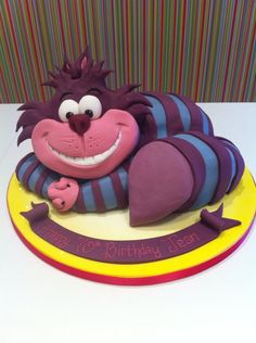 Cake?  Yeah...really a cake. Wow! What a cool cheshire cat.