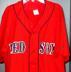 1d567628456 Boston Red Sox Baseball Jersey Size Large L Southland Athletic Number 10 MLB