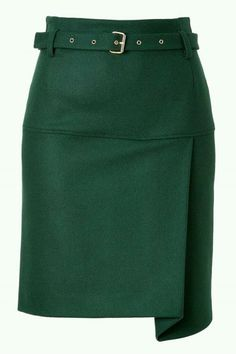 7d46b0830 The classic emerald green, wool blend pencil skirt gets daring in this…