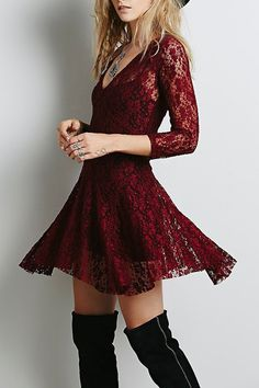 707546497390a 21 Best Wine red dress images | Fall winter fashion, Fall winter ...