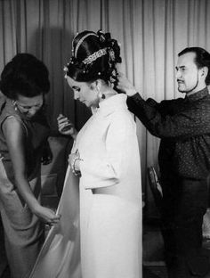 Famed Hairstyle Pierre Alexandre with Elizabeth Taylor