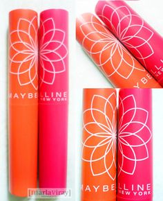 Maybelline LipSmooth Color Bloom in peach and pink blossom