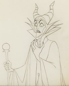 Maleficent animation drawing from Disney's Sleeping Beauty