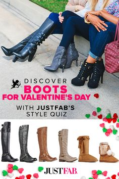 Make sure you look your best this Valentine's day! We've hand selected some of our favorite boots, heels, sandals and wedges for your special day. Can't decide which style is best for you? Find out by taking JustFab's Style Quiz.