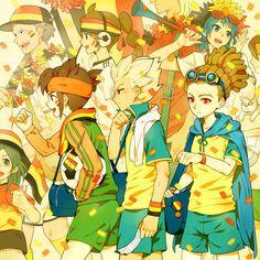 「練習後試合見にいくぜ!」/「南城」のイラスト [pixiv] Endou, Goenji & Kido | Inazuma Eleven