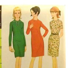 Vintage 1960s Dress Pattern McCalls 8957 Size 14 Bust by Revvie1, $8.00