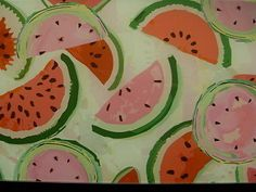 12x8-Tempered-glass-cutting-board-Surface-Protector-KitchenArt-WATERMELON-SLICES