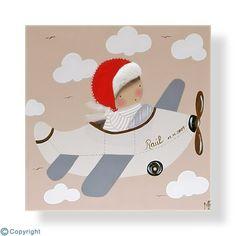Cuadro infantil personalizado: Niño aviador (ref. 12000-07)