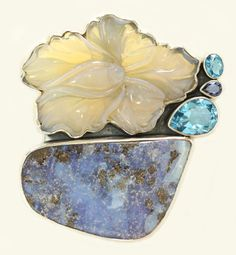 Carved Opal Flower