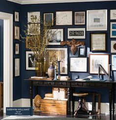 Color Time - Sherwin Williams Naval, The Perfect Blue--used this color in 2 of our houses...I will always love it.