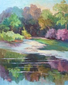 Lindenberg Lake II by Deanna Jaugstetter Oil ~ 30 x 24