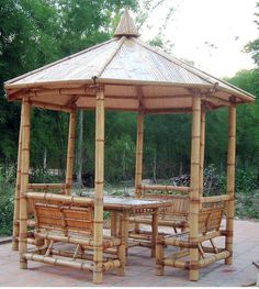 Bamboo Gazebo & Hut