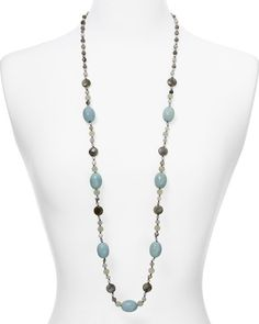 """Chan Luu Agate Beaded Necklace, 41"""" 
