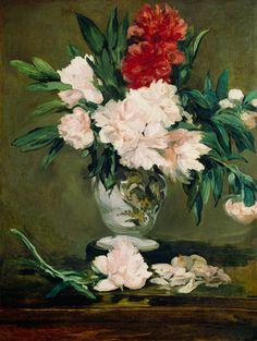 Nature morte- Vase de pivoines de Manet