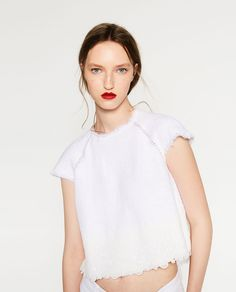 CONTRAST JACQUARD TOP-View All-TOPS-WOMAN | ZARA United States