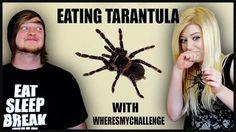 EATING A TARANTULA -WheresMyChallenge- Bug Roulette - YouTube