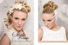 Kreative, edle und kunstvolle Frisuren für alle Bräute und Heiratswilligen - meine Arbeiten als Fotostrecke in der Zeitschrift Meine Brautfrisur.