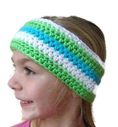 Girl's Earwarmer Headband Crochet Stripes by PreciousBowtique