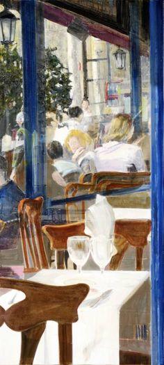 """Saatchi Art Artist Arttrn Trnski; Painting, """"Caffe de Paris 02"""" #art"""