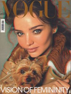 Miranda Kerr's first Vogue cover was the September 2010 issue of Vogue Italia