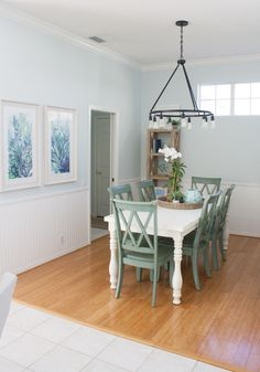 Coastal Dining Room | The Lily Pad Cottage