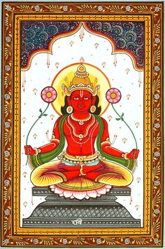 Ravi - Navagraha (The Nine Planet Series). Artist: Rabi Behera X Indian Traditional Paintings, Indian Art Paintings, Amazing Paintings, Traditional Art, Krishna, Shiva, Spiritual Paintings, Lord Ganesha Paintings, Cute Drawings