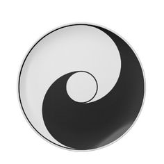 "An ancient version of the traditional ""yin yang"" symbol. The ""yin yang"" is a Chinese Taoist design representing how opposite forces are mutually interdependent. Often interpreted as masculine and feminine forces, light and dark, and other opposites.     Great for casual everyday use or an Asian themed dinner or party."
