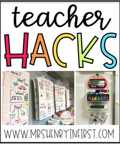 We love a good teacher hack! Check out how tricks like turning poms into whiteboard erasers can help you this school year. Classroom Hacks, Classroom Setup, Classroom Design, Kindergarten Classroom, Future Classroom, School Classroom, Classroom Checklist, Classroom Labels, Classroom Setting