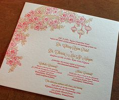 indian letterpress wedding invitation by invitations by ajalon
