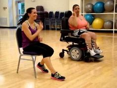 Wheelchair (seated) Zumba - On the Floor - Jennifer Lopez ft. Pitbull - YouTube    ❤   rePinned by CamerinRoss.com  
