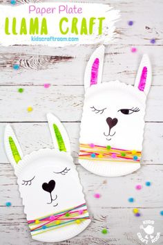 This Paper Plate Llama Craft is so adorable! It's a quick and easy llama craft for kids and a cute quirky idea for a Valentine's Day card too! Add a written llama pun message to make a llama valentine craft that's sure to delight! Llama be your Valentine! Paper Plate Crafts For Kids, Valentine Crafts For Kids, Animal Crafts For Kids, Crafts For Kids To Make, Toddler Crafts, Preschool Crafts, Paper Crafts, Craft Kids, Valentines