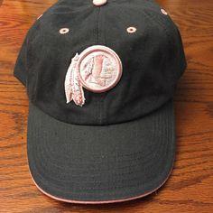 Ladies NFL Washington Redskins Hat Ladies NFL Washington Redskins Black and Pink Hat NFL Team Apparel Accessories Hats