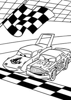 Coloring Page Cars Pixar Kids N Fun