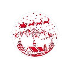 Stencil paisaje de Navidad 25 cm - Decora