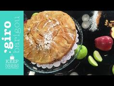 Upside-down apple pie Greek Sweets, Dessert Recipes, Desserts, Apple Pie, Cooking, Breakfast, Cakes, Food, Apples