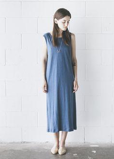 Ilana Kohn - Jersey Tank Dress in Indigo