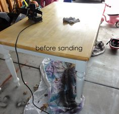 A Grace Full Life: Old Kitchen Table Makeover