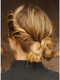 Le chignon à torsades - Les meilleures coiffures vues sur le Web ! - Photos Beauté - Be.com