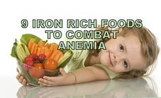 Iron-deficiency anemia can be treated by eating foods' high in iron. Here is a list of iron rich foods to improve your hemoglobin count and treat anemia.