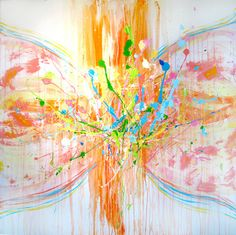 """Saatchi Online Artist Jenia Maslova; Painting, """"Rainbow Butterfly"""" #art"""