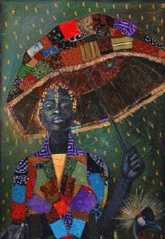 "Patchwork Quilt Lady. ""Sheltered"" by Tamara Natalie Madden"