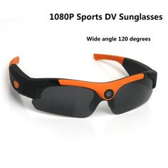 Sunglasses Mini Camera Wide angle 120 degrees Black/Orange Mini DV Camcorder DVR Video Camera Smart Glasses HD 1080P For Outdoor  Price: 66.85 & FREE Shipping  #mensclothing|#mensfashion|#mensgifts|#accessories