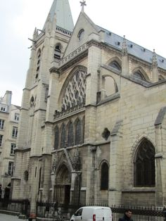 Paris, France - Eglise Saint Severin built in the 12th century, preserves the oldest bell of the capital, melted in 1412.