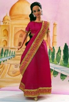 Barbie Dolls of the World - India 1996 My 1st Doll of the World.  She even went to college with me!
