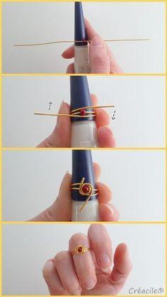 Tuto-Schmuck - Phalanx-Ringe diy jewelry making 25 + › Tuto-Schmuck – Phalanx-Ringe Wire Jewelry Designs, Handmade Wire Jewelry, Wire Wrapped Jewelry, Beaded Jewelry, Diy Jewellery, Jewellery Shops, Jewlery, Fashion Jewelry, Beaded Earrings