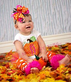 Pumpkin Initial DesignFall Thanksgiving Baby by SweetNSassyTots, $24.00