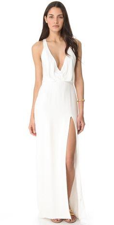 Olcay gulsen white leather mini dress